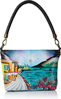 Women's Genuine Leather Large Hobo Shoulder Bag| Hand Painted Original Artwork