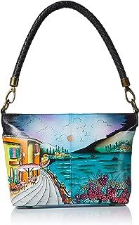 Women's Genuine Leather Large Hobo Shoulder Bag| Hand Painted Original Artwork
