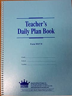 Teachers Daily Plan Book 8-Subject (M117-8)