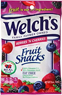 Welchs Fruit Snack, Berry Cherry, 5-Ounce (Pack of 12)