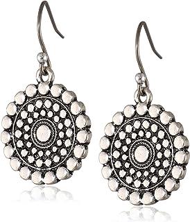 Lucky Brand Womens Blue Moon Tribal Drop Earrings