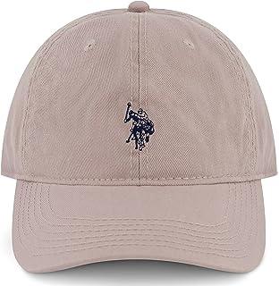 يو اس بولو اسن منز يو اس بولو اسن قبعة بيسبول قطنية قابلة للتعديل بحافة منحنية مع شعار المهر الصغير المطرز