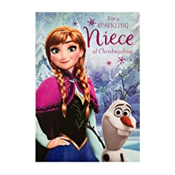 Christmas Card for Niece from Hallmark - Disney's Frozen Design