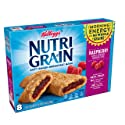 Kellogg's Nutri-Grain, Soft Baked Breakfast Bars, Raspberry, Made with Whole Grain, 10.4 oz (8 Count)
