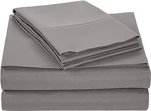 AmazonBasics Light-Weight Microfiber Sheet Set - Full, Dark Grey