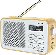 AZATOM Desire X DAB/DAB+ FM Portable Radio Alarm/Battery/Portable/AUX/Headphone & 60 Presets (Oak)