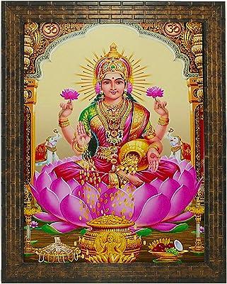 Indianara Laxmi Painting -Synthetic Wood, 27x30.5x1cm, Multicolour