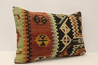 Throw Pillow Cover 16x24 inches 40x60 cm Turkish Kilim Pillowcover Decorative Vintage Kilim Pillowcase
