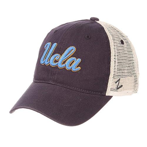 5a9689a174d Zephyr NCAA Men s Relaxed Fit Vintage- University- Adjustable Trucker Hat  Cap