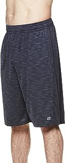 Men's Performance Polyester Workout Gym & Running Shorts w Pockets - 11 Inch Inseam