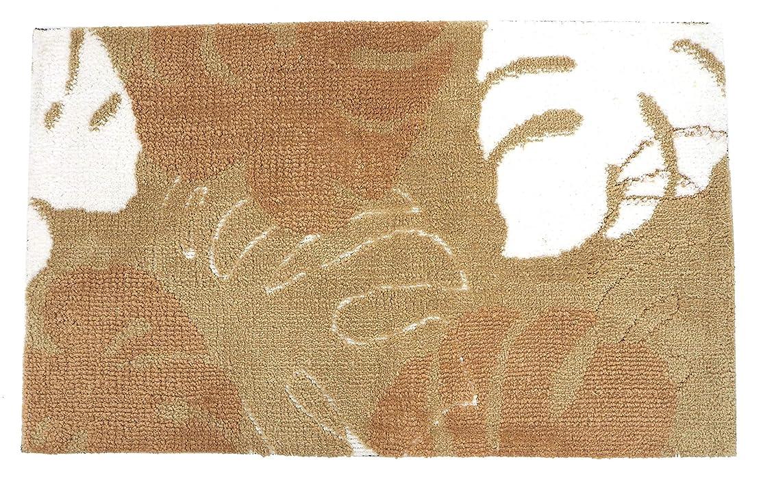 平らなストライク欺萩原 玄関マット ベージュ サイズ:約45×75cm