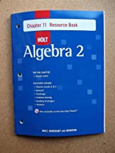Holt Algebra 2: Resource Book with Answers: Chapter 11