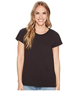 Luxe Cotton Slub Short Sleeve Crew Tee with Back Detail Seam Stitch