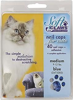 Feline Soft Claws Cat Nail Caps Take-Home Kit, Medium, Blue