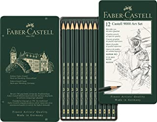 Faber-Castell Castell 9000 Graphite Pencil Art Set, 12 Pack, (10-119065)
