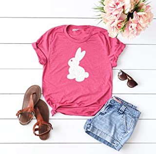 Easter Shirt for woman Happy Easter Holiday t-shirt Easter outfit glitter shirt