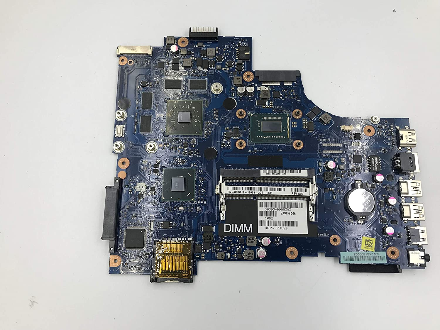 Lysee Laptop Motherboard - for dell Inspiron 17R-5721 3721 5721 LA-9102P CN-0C2GJ2 0C2GJ2 C2GJ2 laptop motherboard with I5-3337U HM76 100% work