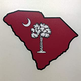 Auto Graphics South Carolina - State Palmetto Tree and Crescent Moon Decal - 5