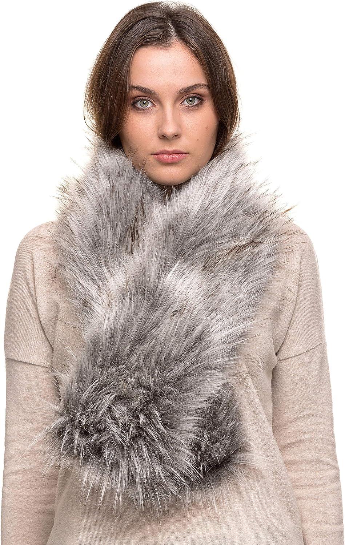 Futrzane trust Women Faux Fur Scarf - Winter Warmer 2021 model Like Neck R Long