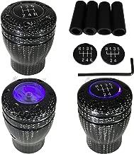 Mega Racer Carbon Fiber Manual Transmission Speed 5 6 Purple LED Light Gear Stick Shift Knob JDM Style Car US Shifter Console Lever