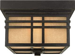 Quoizel HC1612IB Hillcrest Outdoor Mission Flush Mount Ceiling Lighting, 2-Light, 120 Watts, Imperial Bronze (7