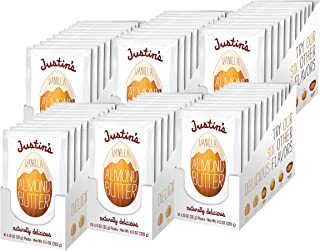 Justin's Vanilla Almond Butter Squeeze Packs, Gluten-free, Responsbily Sourced, 6 Boxes of 10 (1.15oz each)
