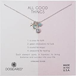 Dogeared - All Good Things, Green Chalcedony Amazonite Cluster Necklace