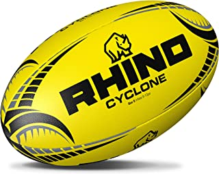 845a7ab8070c5 Rhino Cyclone Ballon de Rugby d'entraînement – Jaune Fluo