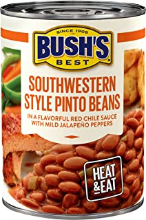 BUSH'S BEST Southwestern Style Pinto Savory Beans, 15.4 Ounce Can (Pack of 12)