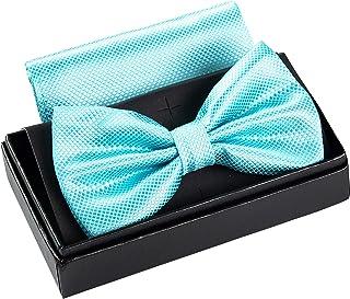 Massi Morino papillon con fazzoletto da taschino per uomo I Papillon regolabile Premium I Set regalo di alta qualità