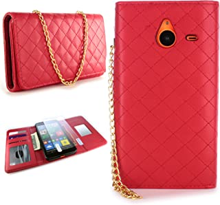 CoverON for Microsoft Lumia 640 XL Wallet Case [ClutchCase Series] Soft Flip Credit Card Phone Cover Purse Pouch with Screen Protector - (Red)