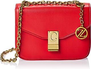 Zeneve London Womens Crossbody Bag, Red - 1191830000