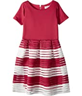 Us Angels - Short Sleeve Cut Out Dress with Full Skirt (Big Kids)