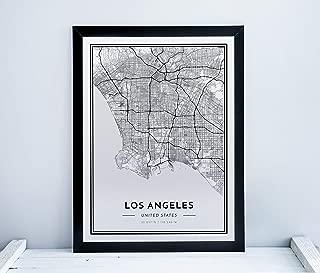 Alvar Carto Los Angeles Poster - City Map Print - Minimalistic Scandinavian Wall Art - 18