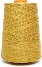 Linen Yarn Cone - 100% Flax Linen - 1 LBS - Sulfuric Yellow Color - 3 PLY - Sewing Weaving Crochet Embroidery - 3.000 Yard