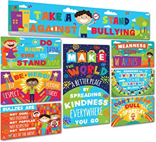 Sproutbrite Classroom Decoration Banner and Posters - Bulletin Board Set - Anti Bullying and Empathy