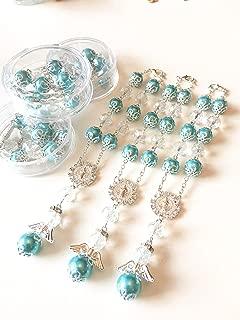 YRP 12 Baptism Turquoise Angel Favors Bracelet Party Favors Bautizo Recuerdos Angel Bracelet