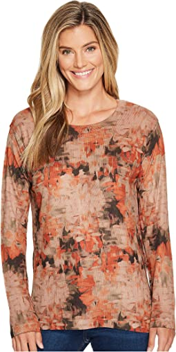 Nally & Millie - Rust Distress Print Long Sleeve Top