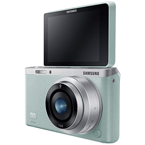 Samsung Electronics NX Mini EV-NXF1ZZB1KUS Wireless Smart 20.5MP Compact System Camera with 2.96-Inch LCD and 9mm f3.5 ED (Mint)