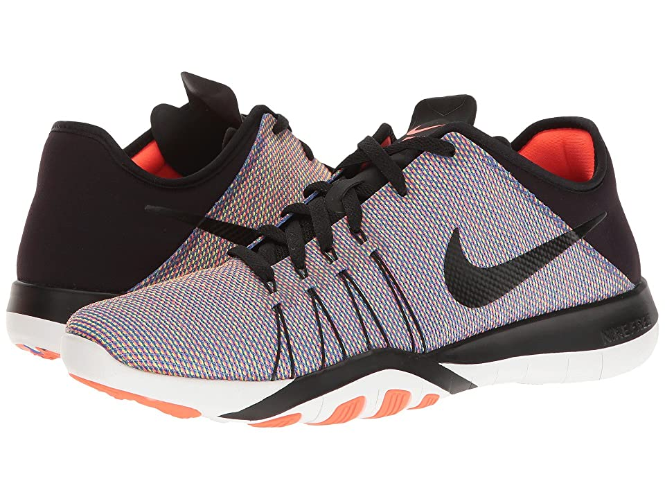 Nike Free TR 6 PRT (Black/Black/Total Crimson/White) Women