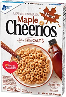 Maple Cheerios, Cereal with Whole Grain Oats, 10.8 oz Box