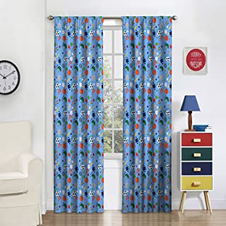 Eclipse Field Day Thermal Insulated Single Panel Rod Pocket Room Darkening Privacy Curtains for Nursery, 42
