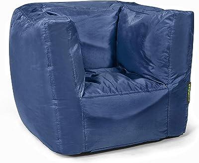 pushbag Kindersitzsack, 100% Polyester, Marine, 60 x 55 cm