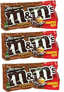 M&M's Winning Flavor 3 Pack Coffee Nut For Party Favor, Home Snacks, Office Snacks Net WT 3.27 Oz Bags (Coffee Nut, Pack Of 3)