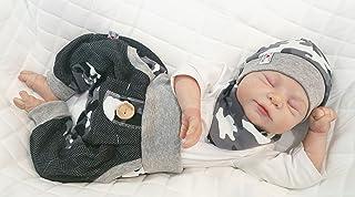 Atelier MiaMia - Pumphose oder als Set Baby Kind von 50, 56, 62, 68, 74, 80, 86, 92, Designer Babyhose Set Limitiert !! Tarnfarbe grau, weiß
