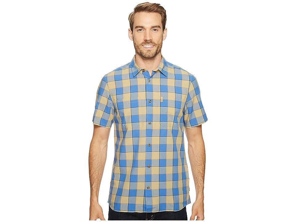 Fjallraven High Coast Big Check Shirt Short Sleeve (UN Blue) Men