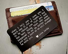 custom engraved wallet card