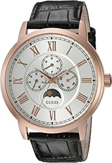 Men's U0870G2 Dressy Stainless Steel Watch with Multi-function Dial and Genuine Leather Strap Buckle