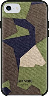 JACK SPADE Cell Phone Case | for Apple iPhone 8, iPhone 7, iPhone 6S, and iPhone 6 | Protective Wrap Phone Cases with Drop Protection - M90 Camo Green
