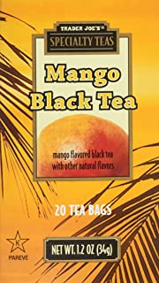 Trader Joe's Specialty Mango Black Tea 20 Tea Bags Exotic, Refreshing and Packed with Antioxidants !!!